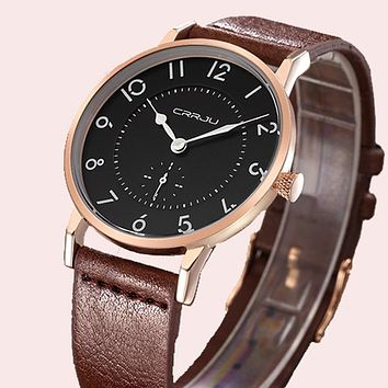 Men's Watches New Top Luxury Watch Men Ultra Thin Leather Strap Quartz Wristwatch Fashion casual watches