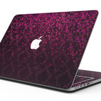 Burgandy Falling Micro Hearts - MacBook Pro with Retina Display Full-Coverage Skin Kit