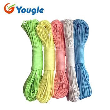 YOUGLE Glow in the dark Luminous Paracord Parachute Cord Lanyard Rope 100 ft (31m) 9 Strands Cores