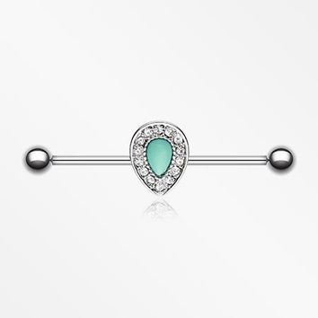 Avice Turquoise Industrial Barbell