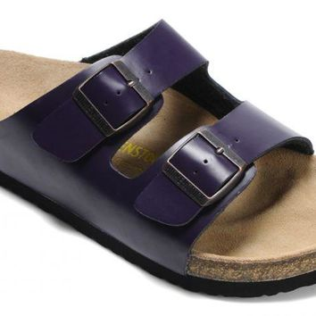 Birkenstock Arizona Sandals Leather Purple - Ready Stock