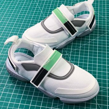 18ss Prada Cloudbust White Green Women's Sneakers  - Best Online Sale