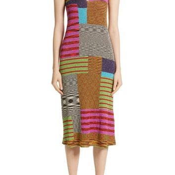 Missoni Metallic Patchwork Stripe Knit Dress | Nordstrom