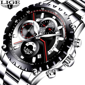 Affordable Luxury! 2017 New Fashion LIGE Mens Watch