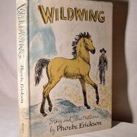 vintage Cowboys & Indians book Art for boys room 1950s WILDWING weekly reader