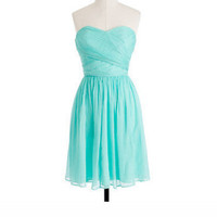 Sweet Blue A-line Sweetheart Neckline Mini Prom Dress