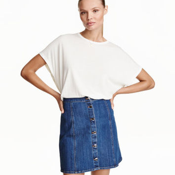 H&M Wide-cut Jersey Top $12.99