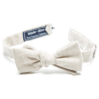 Oatmeal Melange Brushed Cotton Bow Tie