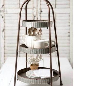 3 Tier Display Stand Round