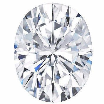 Certified Oval Forever One Charles & Colvard Loose Moissanite Stone - 1.50 Carats - D Color - VVS1 Clarity