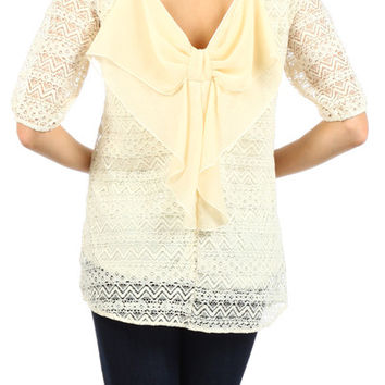 Bow Do You Lace Top - Cream