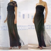 90s Designer Vogue Pattern Oscar de la Renta MOB Evening Strapless Boned Dress