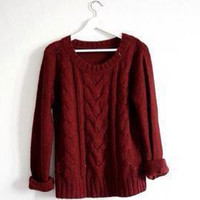 Deep Wine, Oversized Sweater