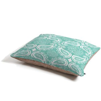 Heather Dutton Plush Paisley SeaSpray Pet Bed