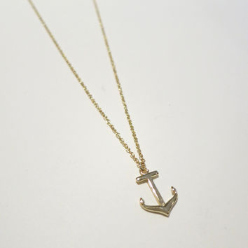 Shipmate Anchor Necklace (Small/Indie Brands)