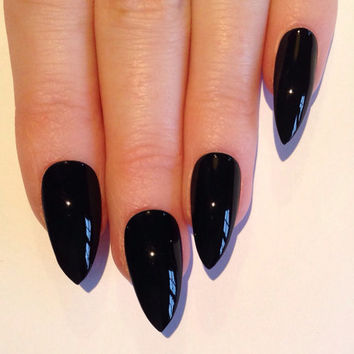 Black Stiletto nails, Nail designs, Nail art, Nails, Stiletto nails, Acrylic nails, Pointy nails, Fake nails