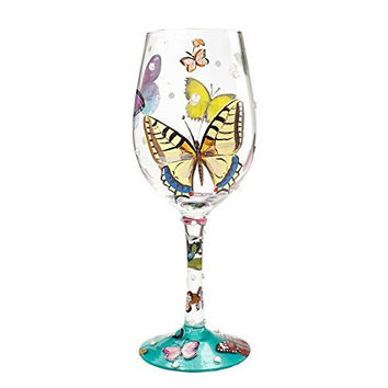 Lolita by Enesco Butterfly Wishes Wine Glass