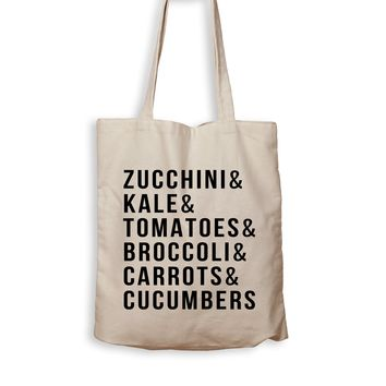Zucchini & Kale & Tomatoes & Broccoli & Carrots & Cucumbers - Tote Bag
