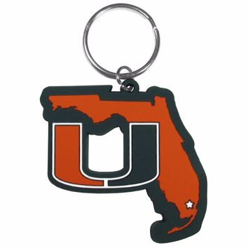 Miami Hurricanes Home State Flexi Key Chain NCAA Licensed