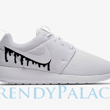 Drip Nike Custom Roshe Run Custom White Men Women Youth Sizes Ni 22905e2782eb