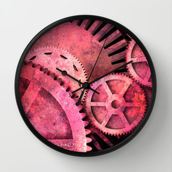 Steampink Steampunk Gears Wall Clock by Paul Stickland for StrangeStore