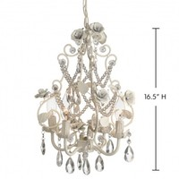 Wake Up Frankie - Large Antique White Rose Beaded Chandelier : Teen Bedding, Pink Bedding, Dorm Bedding, Teen Comforters