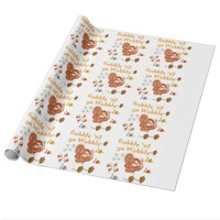 Gobble til ya wobble pattern1 wrapping paper