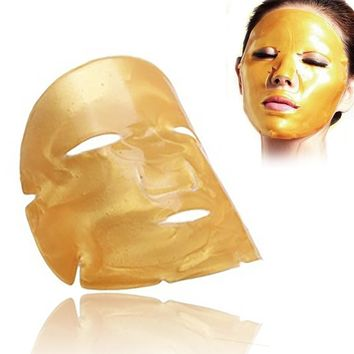 24k Gold Crystal Collagen Anti-Wrinkle Facial Mask 5pcs