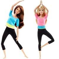 Doll Yoga Clothes Yoga Vest Trousers Pants Accessory for Barbie Doll Barbie Suit Yoga Sportswear