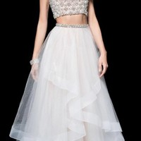 Embellished Bateau Two Piece Prom Dress by Terani Couture