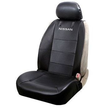 Licensed Official New Nissan Logo Premium Synthetic Leather Sideless Car Truck Front Seat Cover