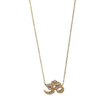 Om Necklace Gold by Wild Hearts