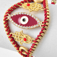 The Couture Candy Store  — Zipper Evil Eye Bracelet