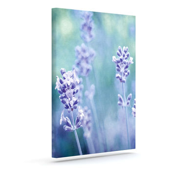 "Iris Lehnhardt ""Lavender Dream"" Flower Purple Outdoor Canvas Wall Art"