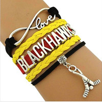 Infinity Collection Love NHL Chicago Blackhawks Bracelet
