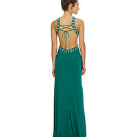 Morgan & Co. Bead-Embellished Gown | Dillards.com