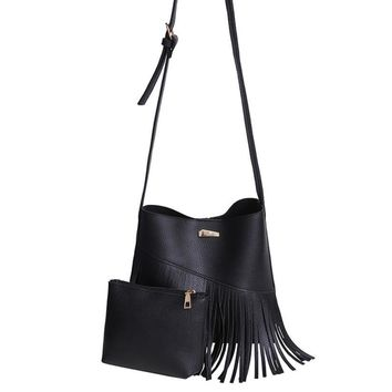 Tassels Women Messenger Bags cross body bags Fashion Leather Bags Hobo Clutch Handbags Shoulder Tote Ladies sac a main