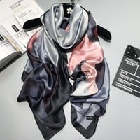 Women Silk scarf Beach Shawl and Luxurious Wrap Designer scarves Plus Size female beach stole bandana