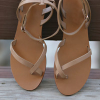 Kiera Natural Tan Wrap Sandals