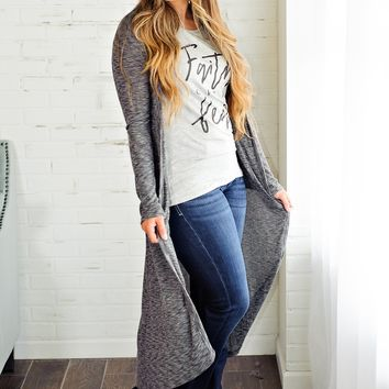 * Stairway To Heaven Ribbed Duster: Grey