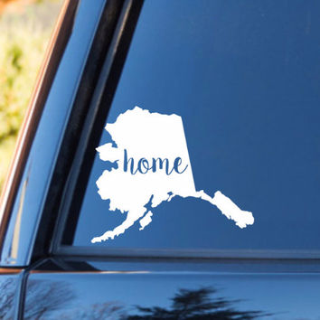 Alaska Home Decal | Alaska State Decal | Homestate Decals | Love Sticker | Love Decal  | Car Decal | Car Stickers | Bumper | 094