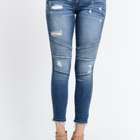 Kan Can Distressed Crop Jeans