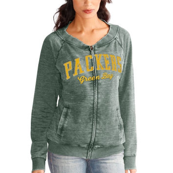 Green Bay Packers Touch by Alyssa Milano Women's Ballhawk Full Zip Sweatshirt – Green