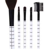 Grid Print Cosmetic Brush Set