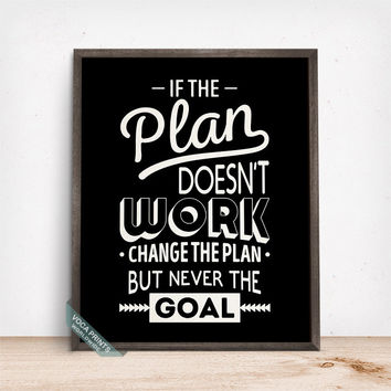 If The Plan Doesnt Work Print, Typographic Print, Motivational Decor, Inspirational Quote, Dorm Decor, Home Wall Art, Fathers Day Gift