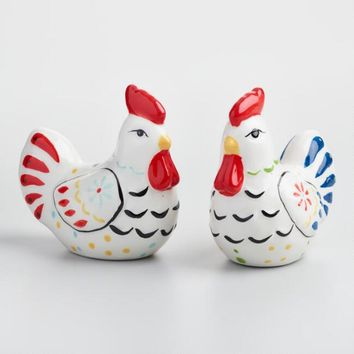 Ceramic Rooster Salt and Pepper Shaker Set