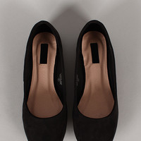 Lucy-100 Suede Round Toe Ballet Flat