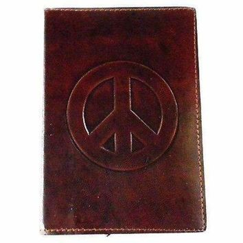 Peace Embossed Leather Journal - Matr Boomie