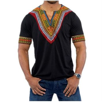 2018 Fashion Mens African Clothes Tops Tee Shirt Homme Africa Dashiki Dress Clothing Brand Casual Short Sleeve T Shirt for Men