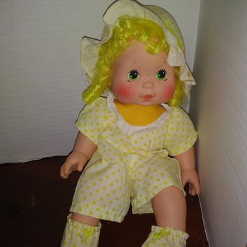 vintage 1982 strawberry shortcake lemon meringue blow kisses baby doll